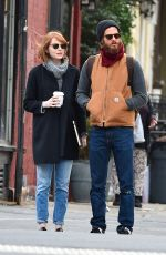 EMMA STONE and Andrew Garfield Out in West Village in New York