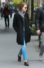 EMMA STONE Out and About in New York 3110