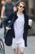 EMMA STONE Out for Coffee in New York 2411