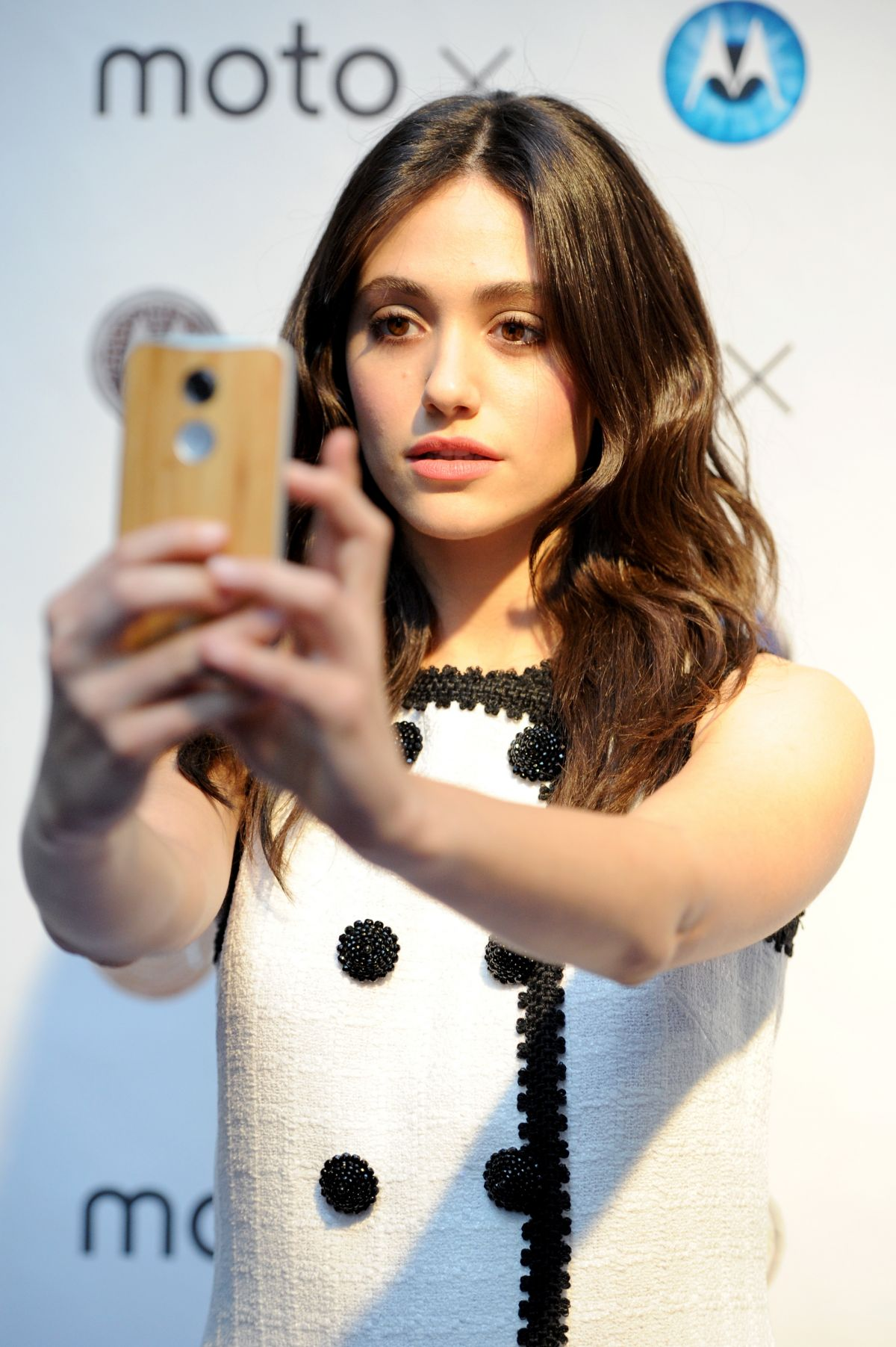 EMMY ROSSUM at Moto X Film Experience Premiere in West Hollywood