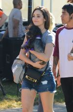 EMMY ROSSUM in Cutoff at NKLA Adoption Event in Los Angeles