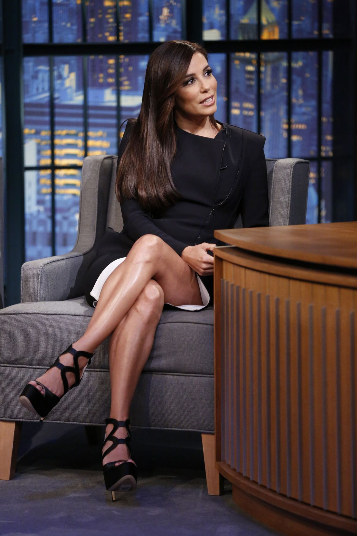 EVA LONGORIA at Late Night With Seth Meyers 0611