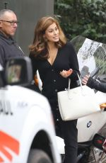 EVA MENDES on the Set of A Commercial in Los Angeles