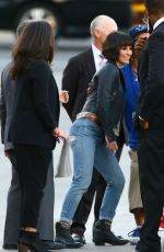 EVANGELINE LILLY Arrives at Jimmy Kimmel Live in Hollywood
