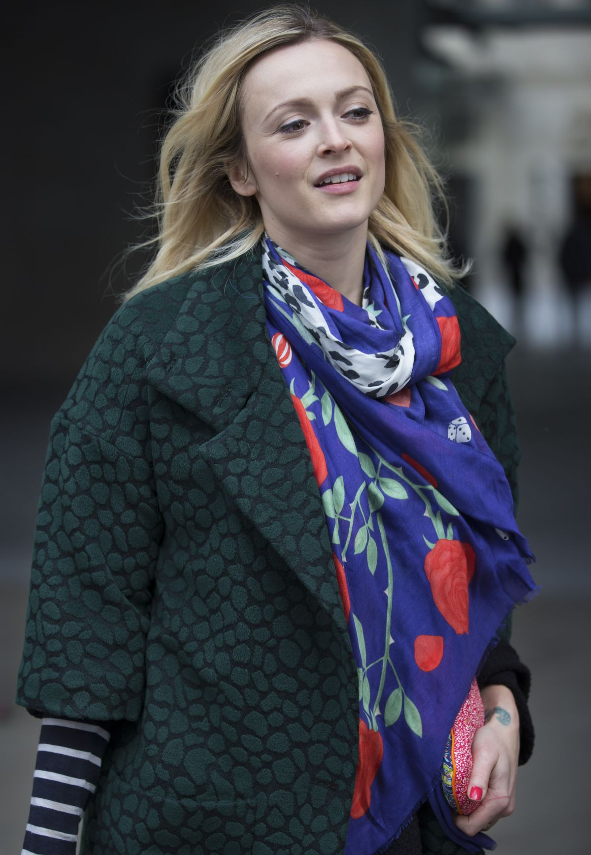 FEARNE COTTON Arrives at BBC Radio Studios in London 0511