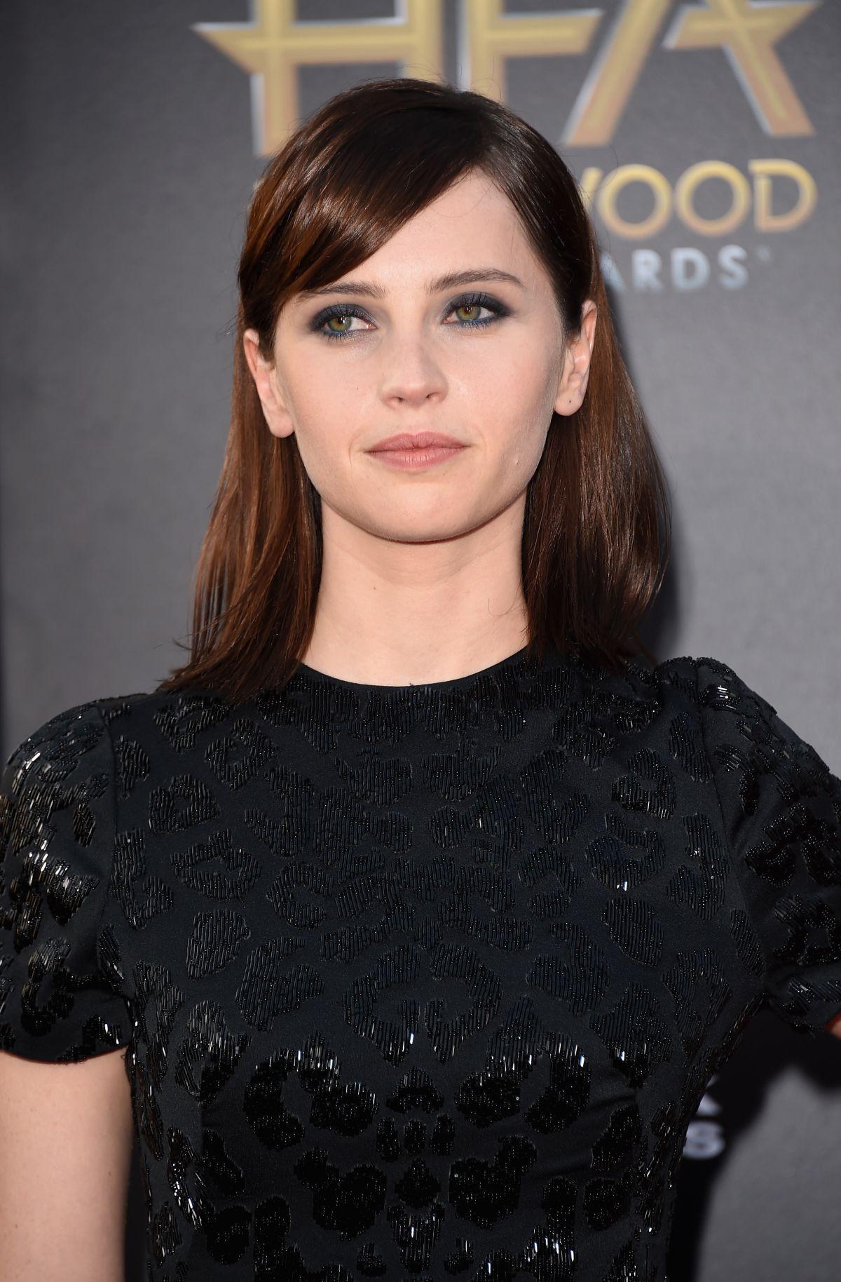 FELICITY JONES at 2014 Hollywood Film Awards