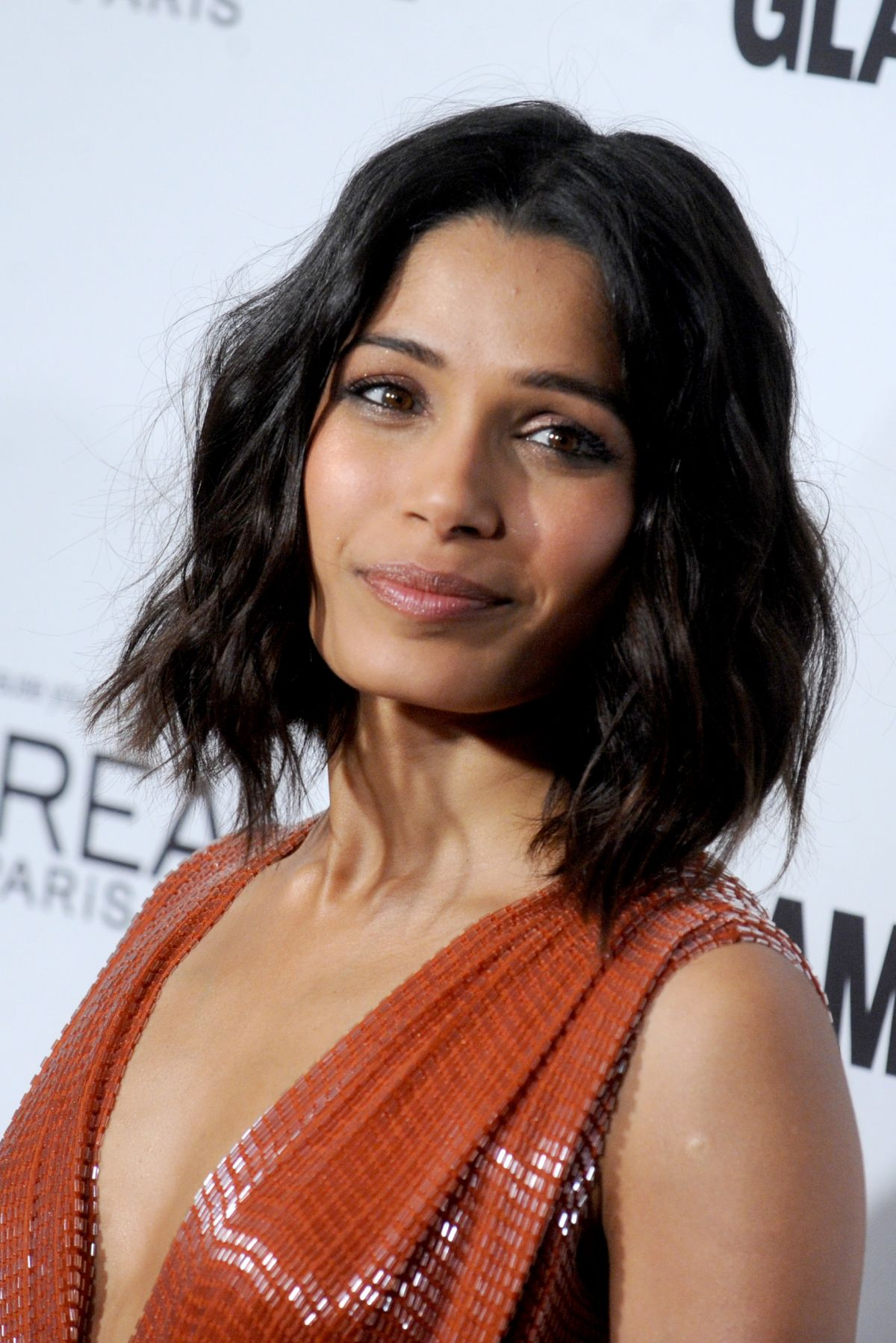 FREIDA PINTO at Glamour Women of the Year 2014 Awards in New York ...