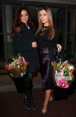 GEMMA MERNA and JENNIFER METCALFE  Leaves Soho Hotel in London