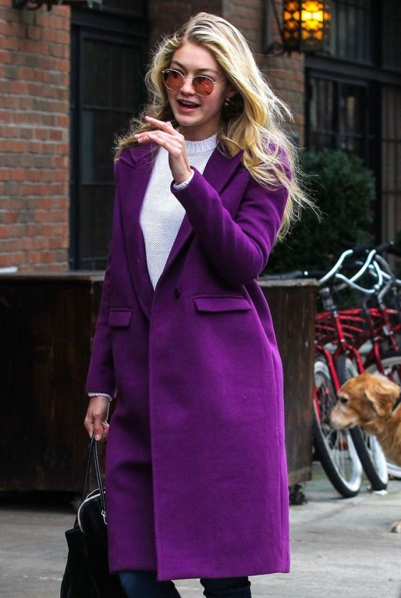 GIGI HADID Out and About in New York 1611