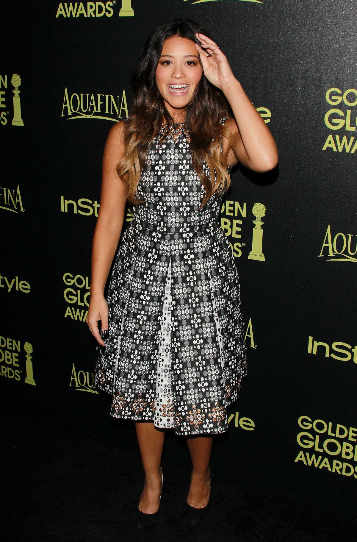GINA RODRIGUEZ at Hfpa abd Instyle Celebrate 2015 Golden Globe Award Season in Hollywood