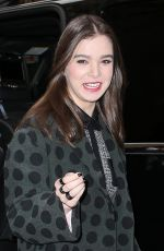 HAILEE STEINFELD Arrives at The Today Show in New York