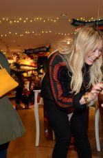 HILARY DUFF at Hallmark Gold Crown Store in New York