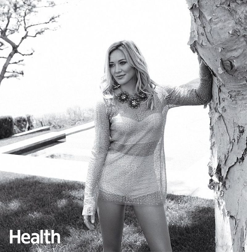 HILARY DUFF in Health Magazine, December 2014 Issue