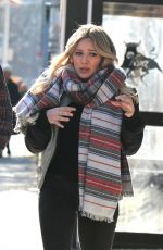 HILARY DUFF in Tights on the Set of Younger in Brooklyn 2011