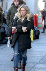 HILARY DUFF on the Set of Younger in New York 1911