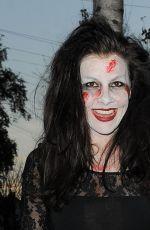 IMOGEN THOMAS at a Halloween Party