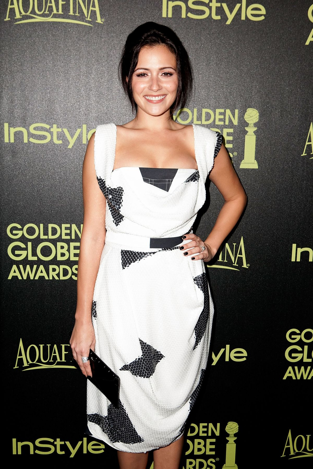 ITALIA RICCI at Hfpa & Instyle Celebrate 2015 Golden Globe Award Season