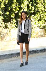 JAMIE CHUNG in Short Skirt Out in Los Angeles