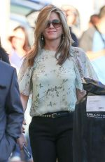 JENNIFER ANISTON Arrives at Jimmy Kimmel Live in Hollywood