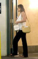 JENNIFER ANISTON Leaves Carasoin Day Spa and Skin Clinic in Los Angeles