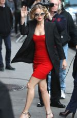 JENNIFER LAWRENCE Arrives at The Late Show with David Letterman in New York