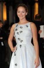 JENNIFER LAWRENCE at The Hunger Games: Mockingjay Part 1 Premiere in London