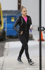JENNIFER LOPEZ in Tights Out and About in Los Angeles 2011