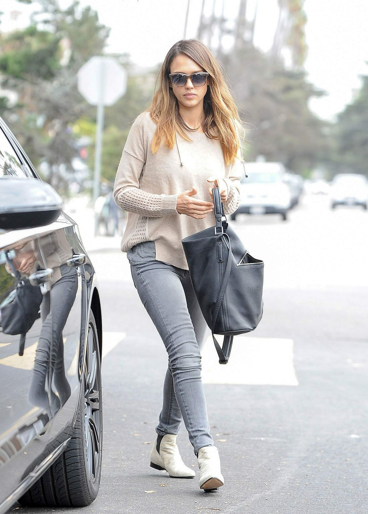 JESSICA ALBA Out and About in Santa Monica 3110