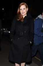 JESSICA CHASTAIN Arrives at Her Hotel in London 3110