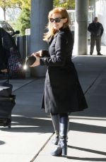 JESSICA CHASTAIN Arrives at JFK Airport in New York 0211