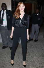 JESSICA CHASTAIN Arrives at Live with Kelly & Michael in New York