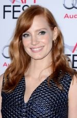 JESSICA CHASTAIN at Afi Fest 2014 Opening Night Gala in Hollywood
