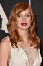 JESSICA CHASTAIN at AMPAS 2014 Governor's Awards in Hollywood