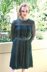 JESSICA CHASTAIN at Interstella Press Conference in Beverly Hills