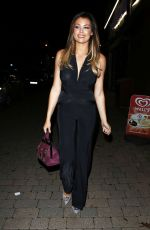 JESSICA WRIGHT Arrives at Papillon Restaurant