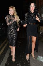 JORGIE PORTER and STEPHANIE DAVIS Night Out in Manchester