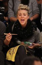 KALEY CUOCO at Lakers vs Spurs Game at Staples Center in Los Angeles