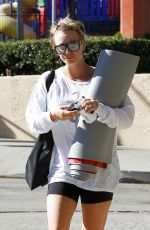 KALEY CUOCO in Shorts Leaves a Yoga Class in Studio City 0911