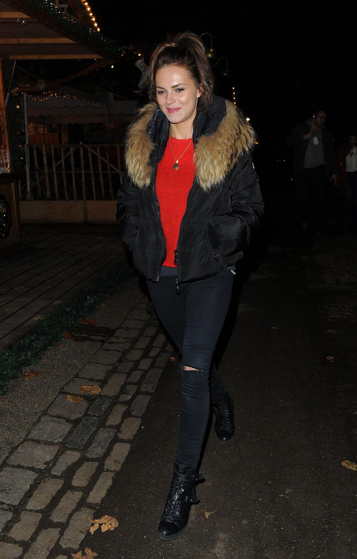 KARA TOINTON Arrives at Winter Wonderland in London