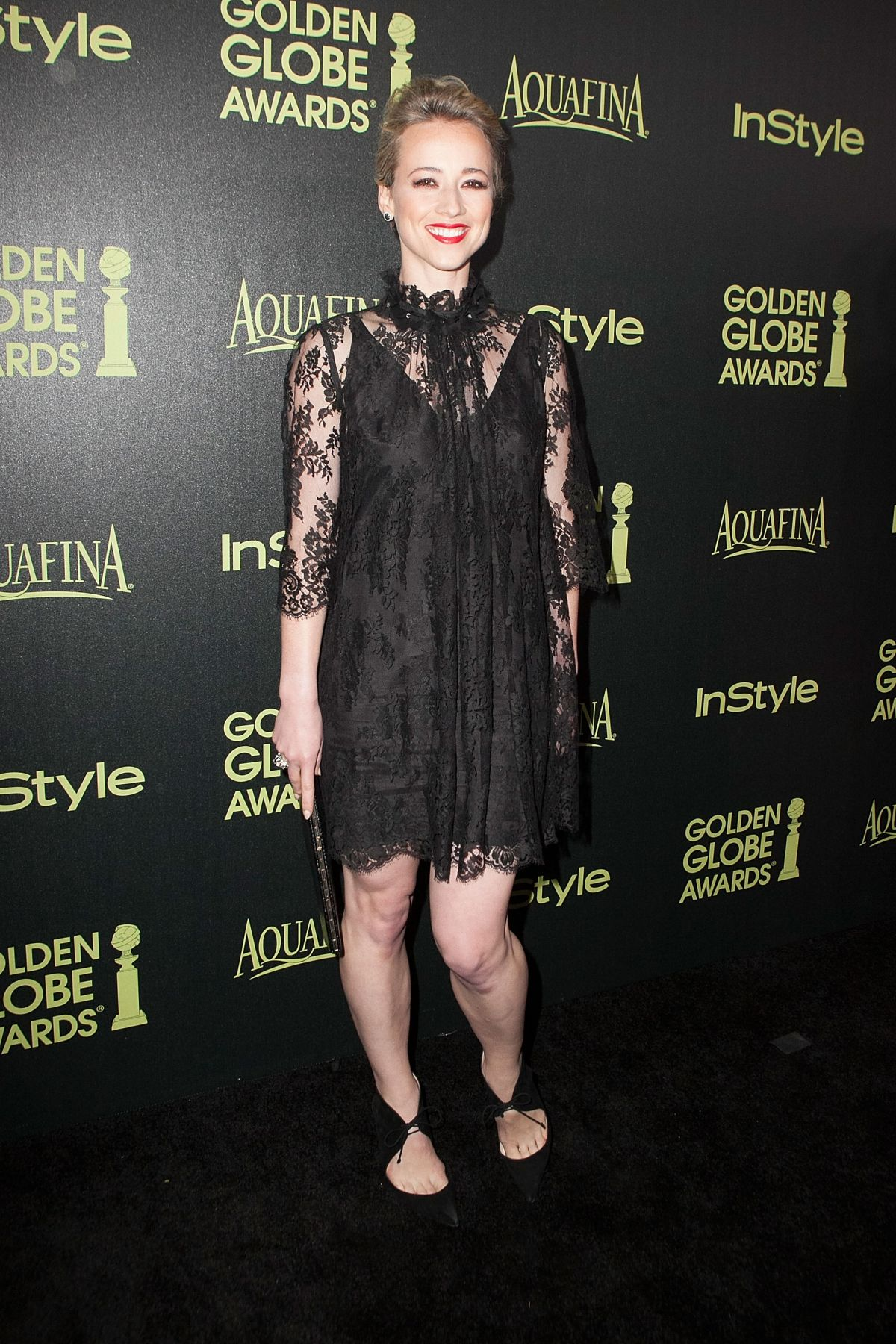 KARINE VANASSE at Hfpa & Instyle Celebrate 2015 Golden Globe Award Season
