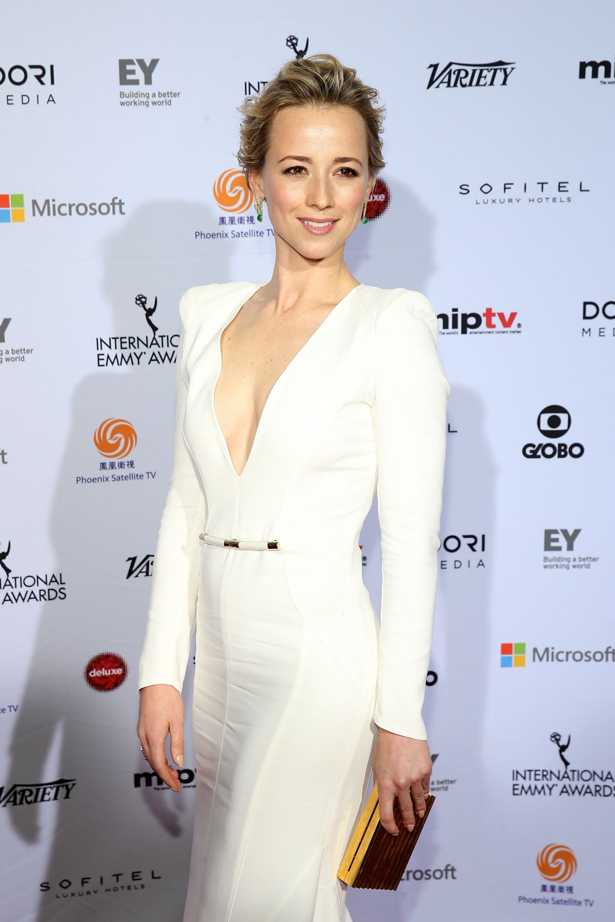 KARINE VANASSE at International Academy of Television Arts & Sciences Emmy Awards in New York