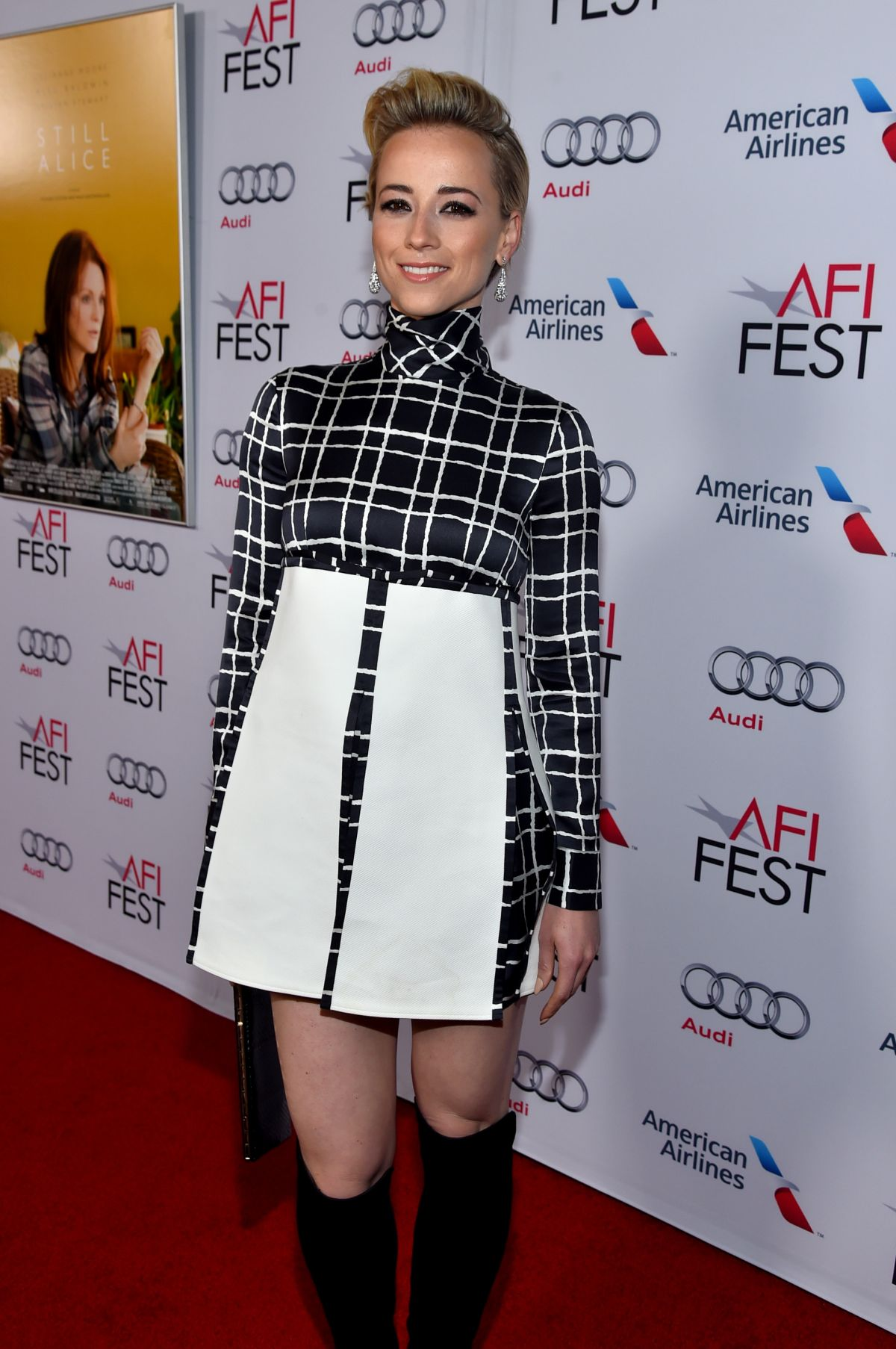 Actress Karine Vanasse arrives at AFI FEST 2014 Presented