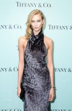 KARLIE KLOSS at Tiffany T Train Experience Opening in New York