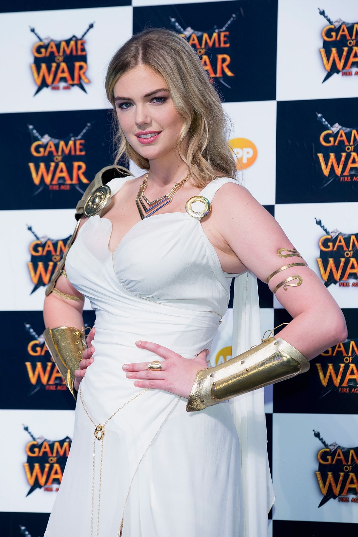 Kate upton at game of war fire age promotion in busan hawtcelebs