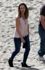 KATHARINE MCPHEE on the Set of Scorpion at a Beach in Malibu