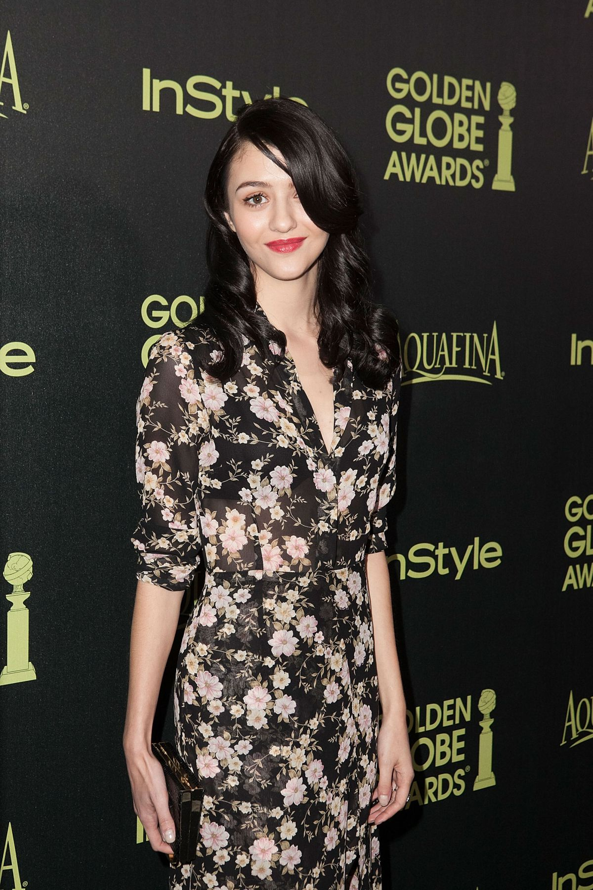 KATIE FINDLAY at Hfpa & Instyle Celebrate 2015 Golden Globe Award Season