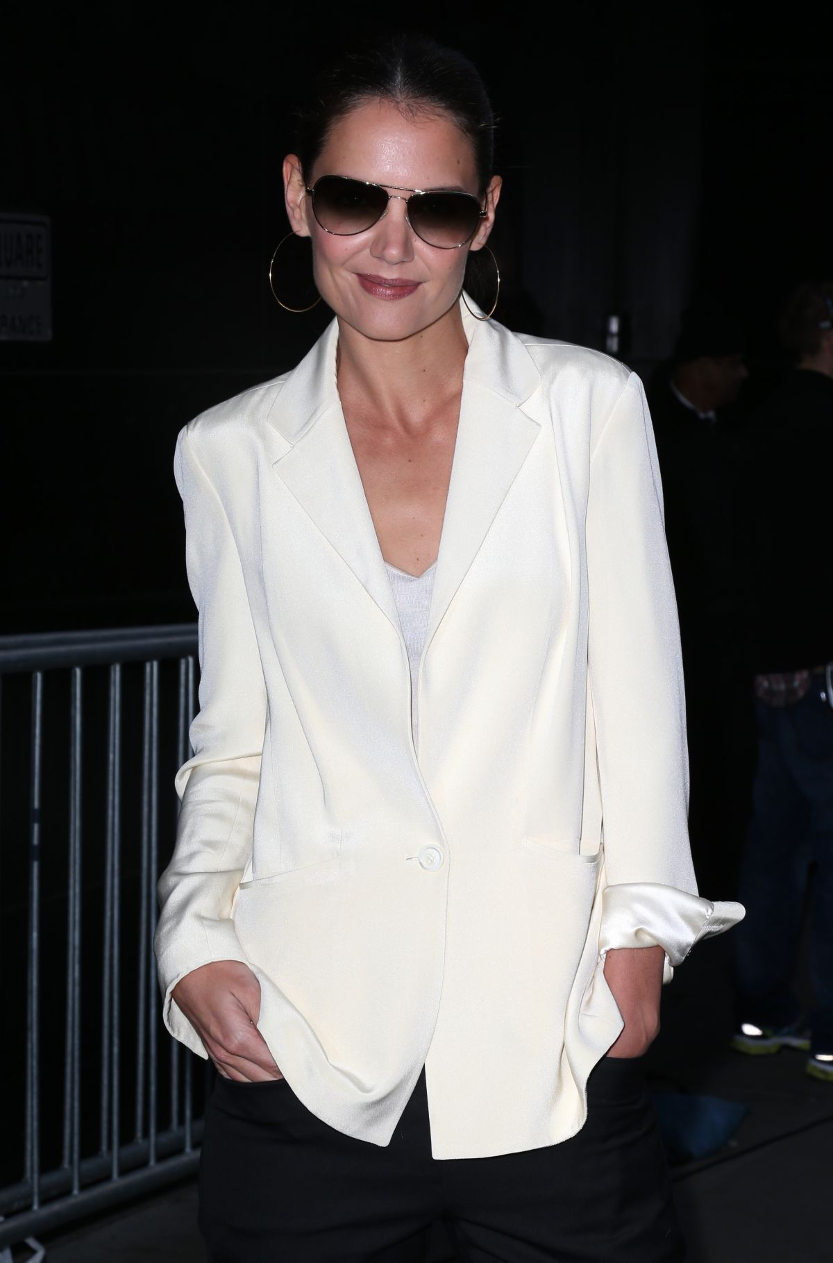 KATIE HOLMES Arrives at Good Morning America in New York