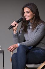 KATIE HOLMES at Apple Store Soho Presents Meet the Actor in New York
