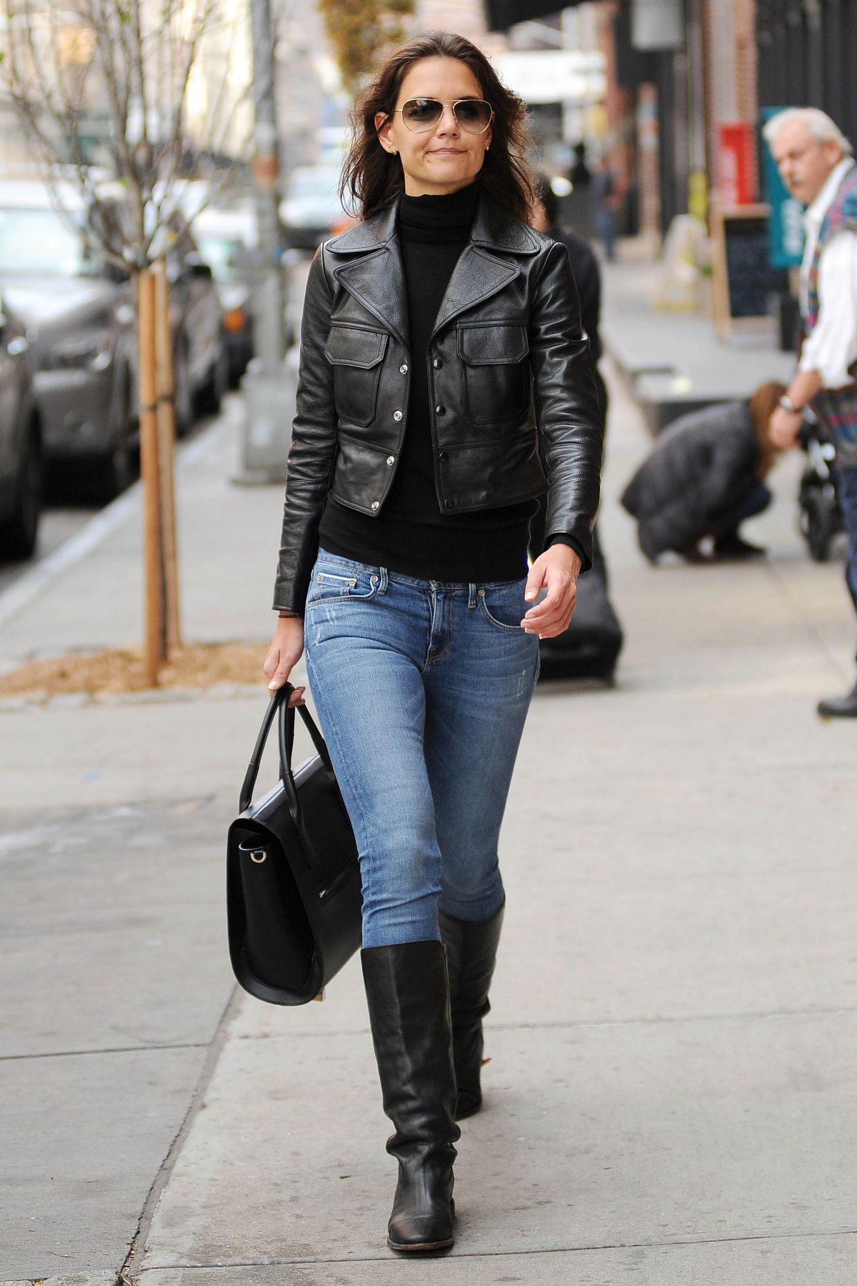 Katie Holmes In Tight Jeans Out In New York Hawtcelebs