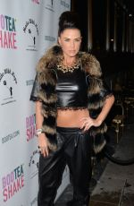 KATIE PRICE at Bootea Shake Drinks Launch in London